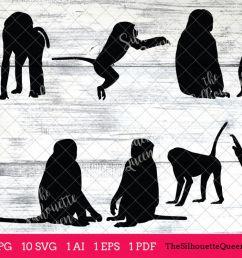 baboon silhouette clipart clip art ai eps svgs jpgs pngs  [ 1200 x 800 Pixel ]
