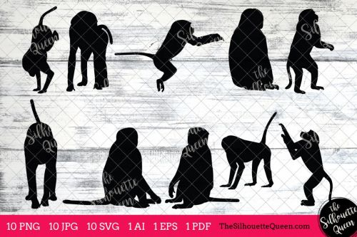 small resolution of baboon silhouette clipart clip art ai eps svgs jpgs pngs