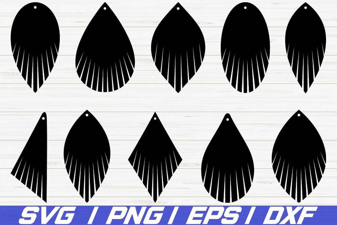 Download Fringe Earring SVG/ leather earring jewelry/ laser cut file