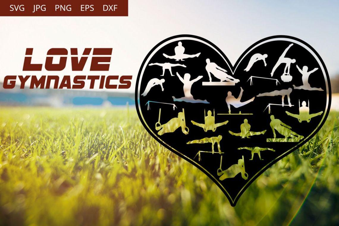 Download Love Gymnastics SVG Vector