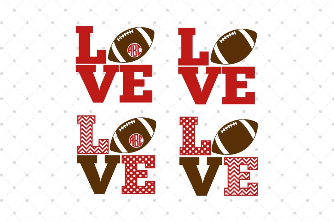 Download Football Love SVG Cut Files
