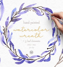 watercolor wreath clipart wedding clipart floral wreath example image 1 [ 1200 x 800 Pixel ]