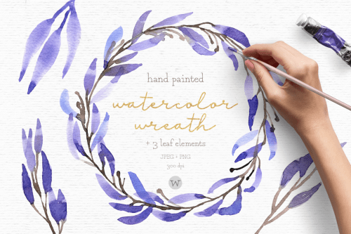 small resolution of watercolor wreath clipart wedding clipart floral wreath example image 1