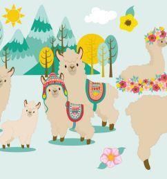 llama fun clipart graphics illustrations amb 1985 example image 1 [ 1158 x 772 Pixel ]