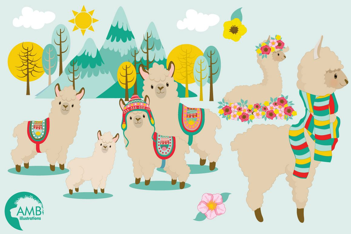 hight resolution of llama fun clipart graphics illustrations amb 1985 example image 1