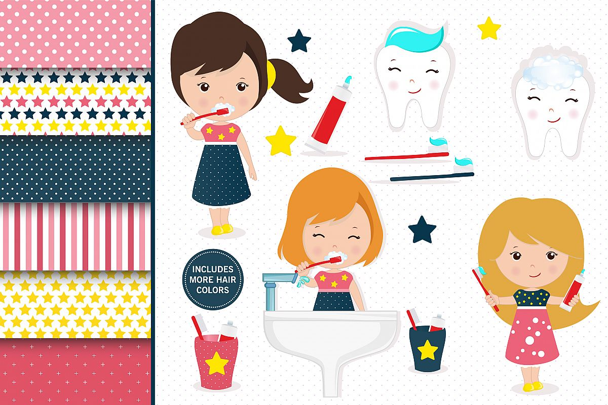Hygiene Girl Illustrations Hyginene Girl Graphics
