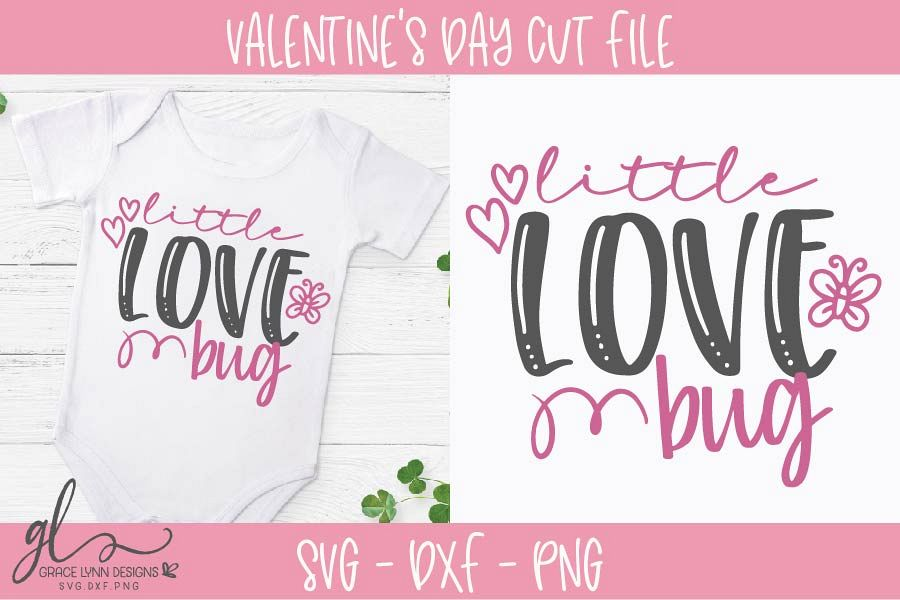Download Little Love Bug - Valentine's Day SVG, DXF & PNG (187818 ...