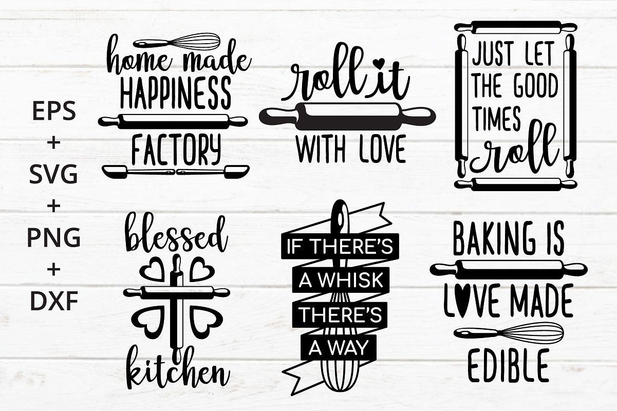 Baking Kitchen Theme SVG crafter