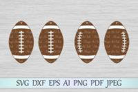 Football earrings SVG, football earrings cut file, DXF, PNG