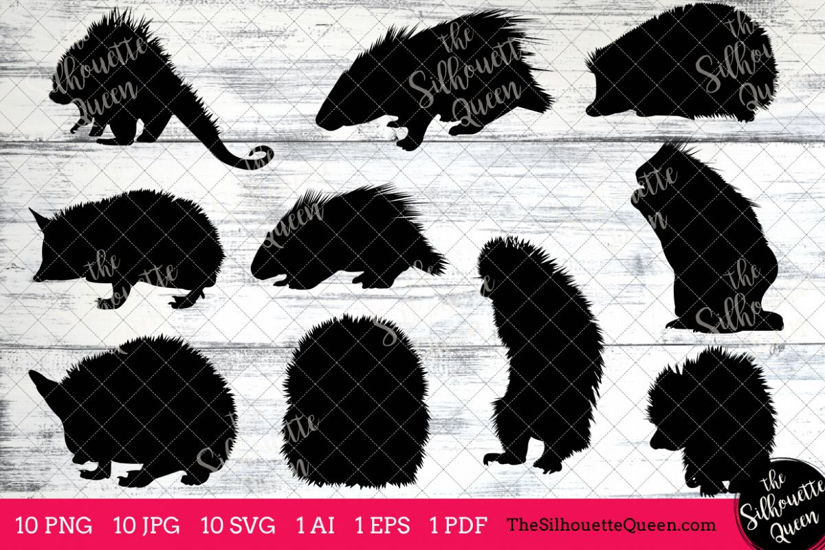 hight resolution of porcupine silhouette clipart clip art ai eps svgs jpgs pngs