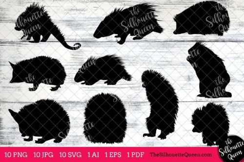 small resolution of porcupine silhouette clipart clip art ai eps svgs jpgs pngs
