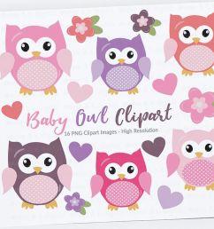 cute owls clipart pink owls clipart digital owls clipart baby shower clipart  [ 1158 x 772 Pixel ]