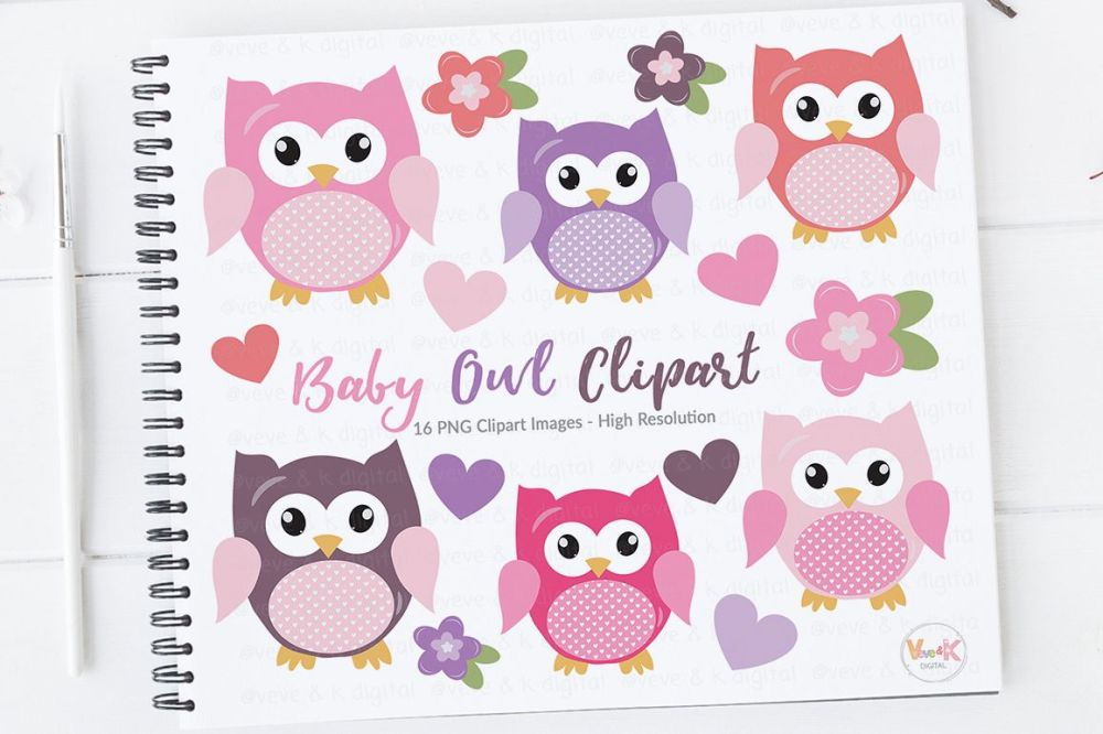 medium resolution of cute owls clipart pink owls clipart digital owls clipart baby shower clipart