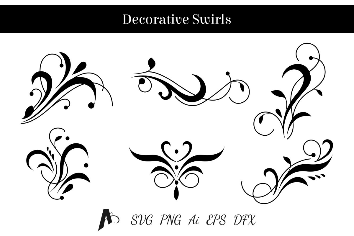 decorative swirls design floral