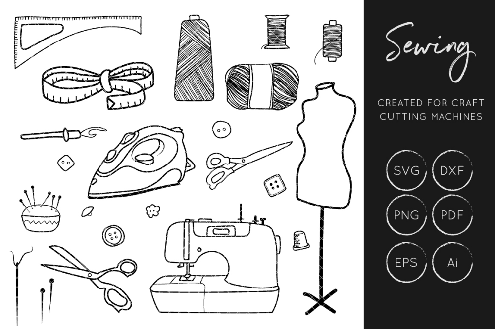 medium resolution of sewing svg cut files crafters cut files sewing clipart example image 1