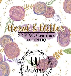 floral and glitter clipart purple flowers graphics example image 1 [ 1200 x 800 Pixel ]