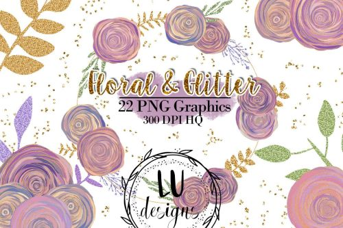 small resolution of floral and glitter clipart purple flowers graphics example image 1