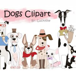 cute dogs clipart example image 1 [ 1200 x 799 Pixel ]