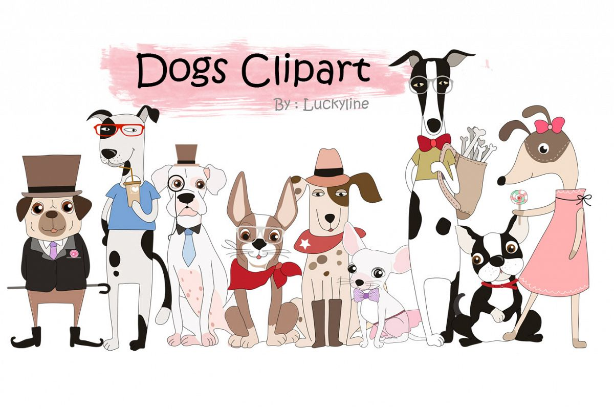 hight resolution of cute dogs clipart example image 1