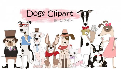 small resolution of cute dogs clipart example image 1