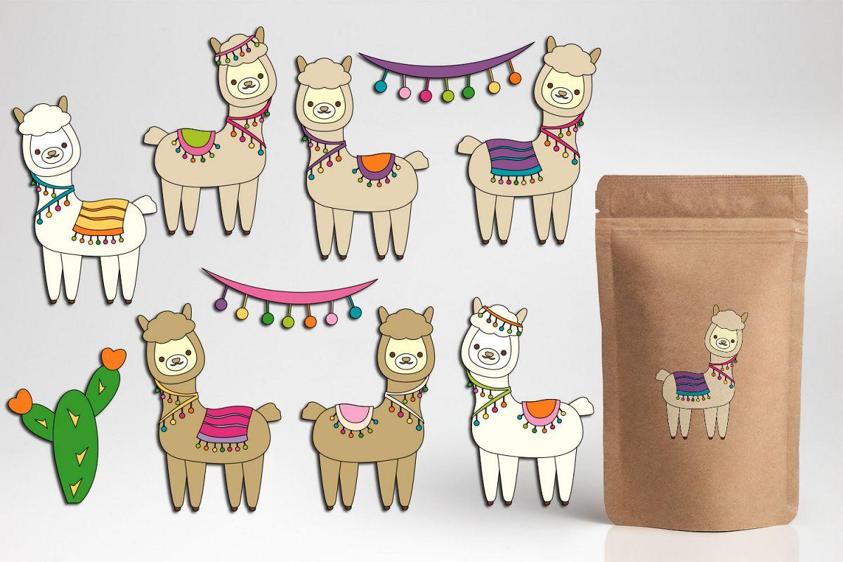 hight resolution of pretty llama clipart graphics cute alpaca illustrations example image 1