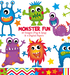 monster clipart monster graphics illustrations example image 1 [ 1200 x 799 Pixel ]