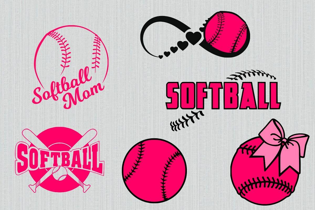 hight resolution of softball svg bundle softball clipart softball cut files for cricut and silhouette printable