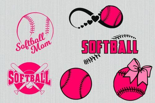 small resolution of softball svg bundle softball clipart softball cut files for cricut and silhouette printable