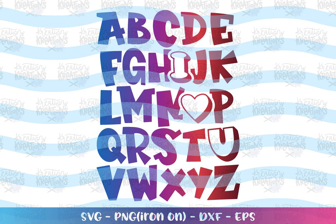 Download Valentines Day svg ABC I love you Alphabet