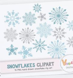 snowflakes clipart snowflakes digital art hand drawn snowflakes christmas card overlay winter clipart [ 1158 x 772 Pixel ]