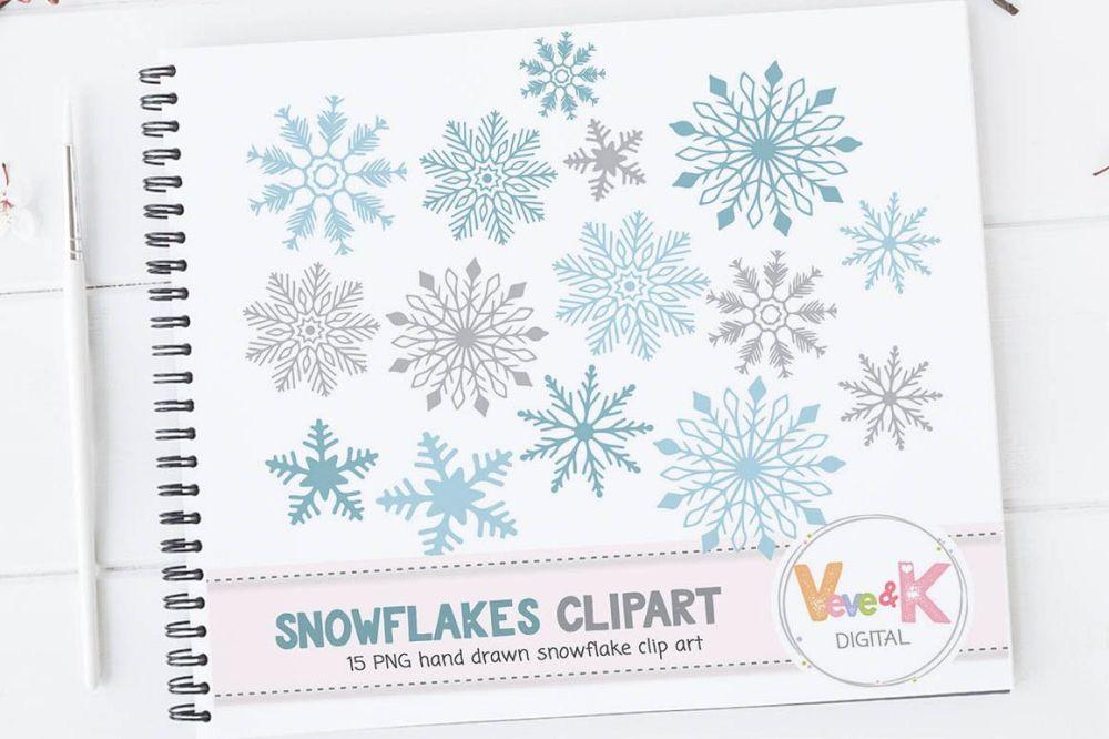 medium resolution of snowflakes clipart snowflakes digital art hand drawn snowflakes christmas card overlay winter clipart