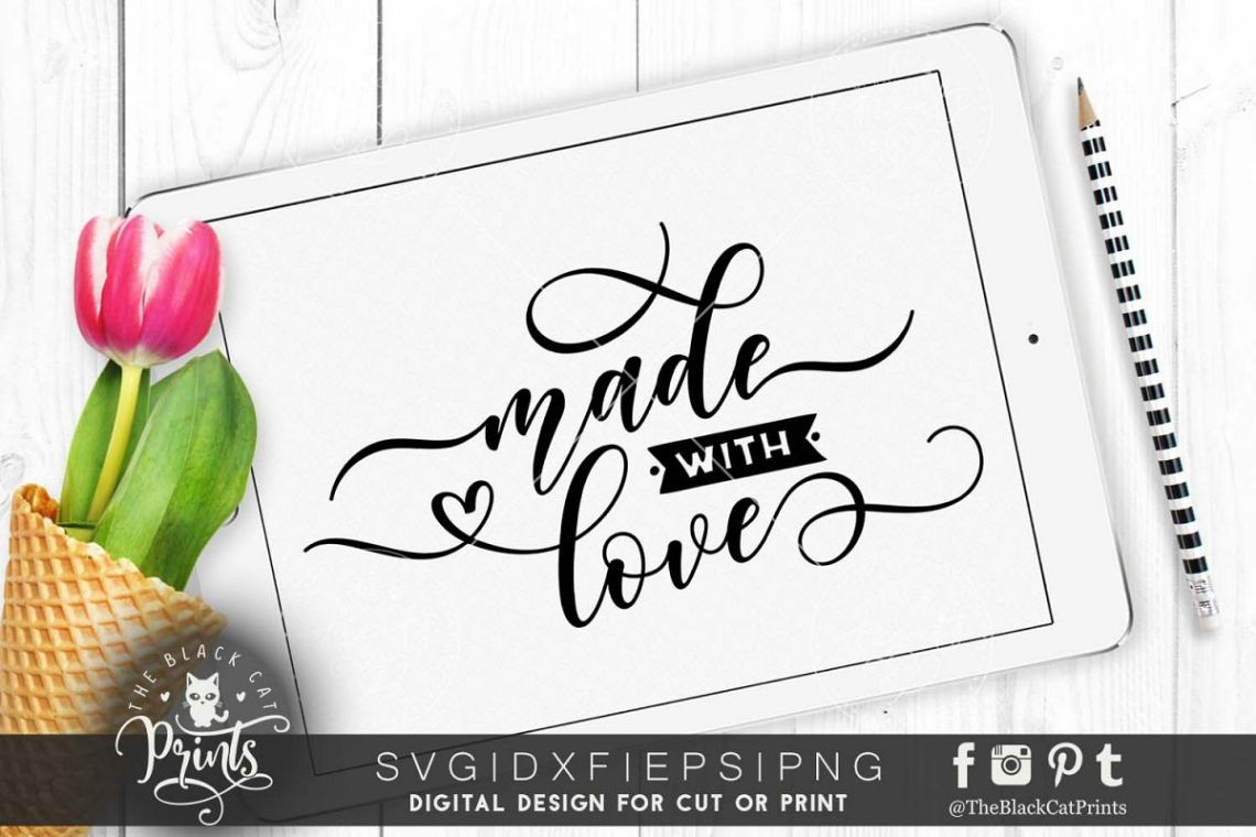 Download Made with love SVG DXF PNG EPS (52929)   Cut Files ...