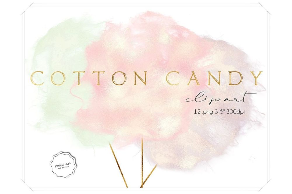 medium resolution of cotton candy clipart example image 1