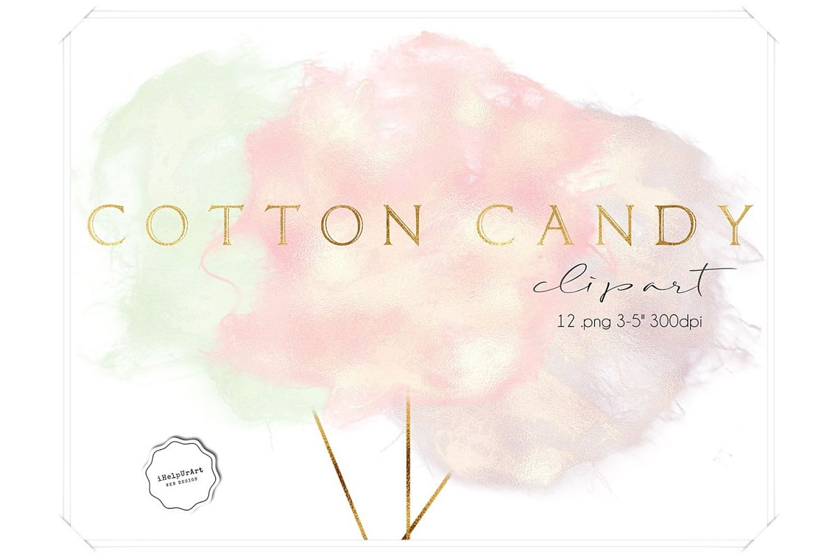 hight resolution of cotton candy clipart example image 1