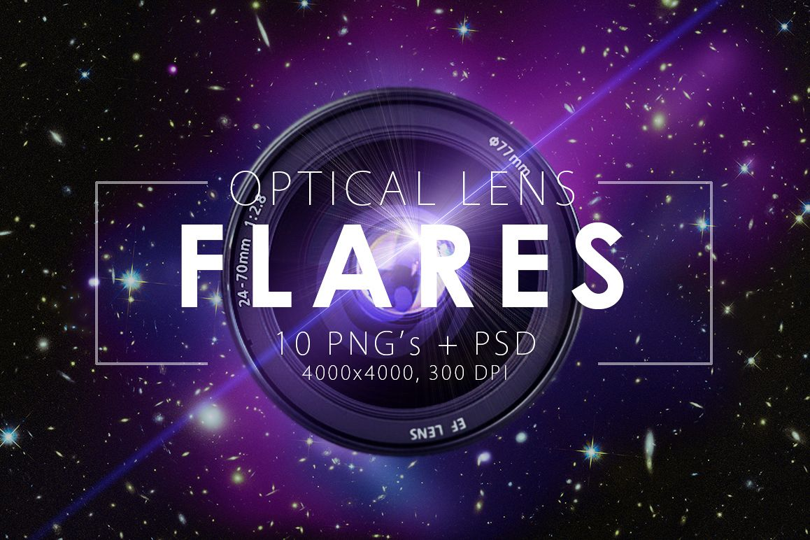 10 Optical Lens Flares Pack 1