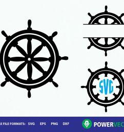 ship wheel clipart monogram frames svg dxf eps cut files example image 1 [ 1200 x 800 Pixel ]