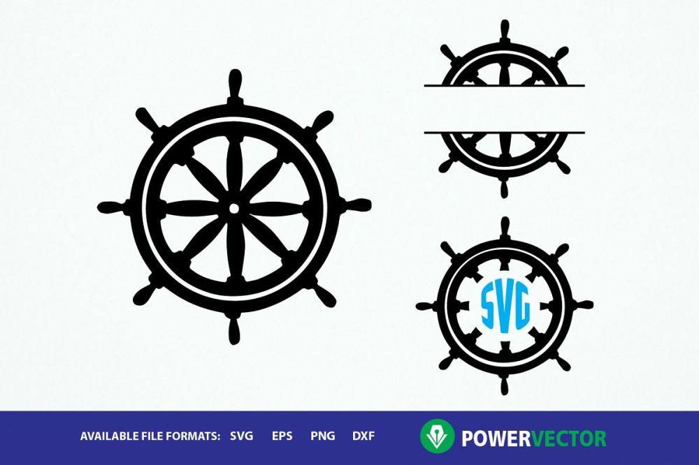medium resolution of ship wheel clipart monogram frames svg dxf eps cut files example image 1