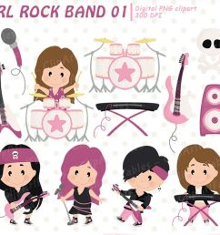 girl rock star clipart music clip art instant download example image 1 [ 1200 x 800 Pixel ]