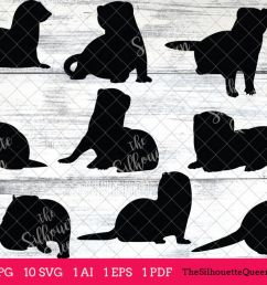 ferret silhouettes clipart clip art ai eps svgs jpgs pngs  [ 1200 x 800 Pixel ]