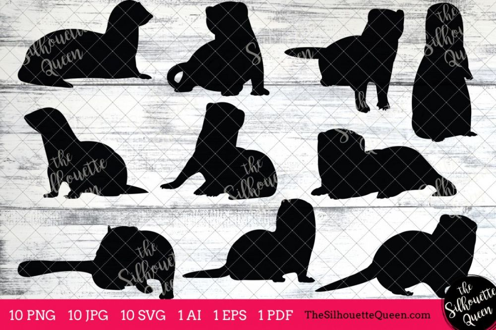 medium resolution of ferret silhouettes clipart clip art ai eps svgs jpgs pngs