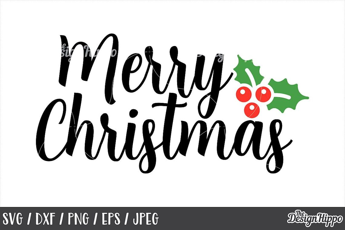 Download Merry Christmas SVG, DXF, PNG, Cut Files, Cricut, Designs