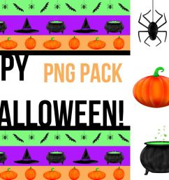 halloween illustrated clipart and graphic pack example image 1 [ 1200 x 800 Pixel ]