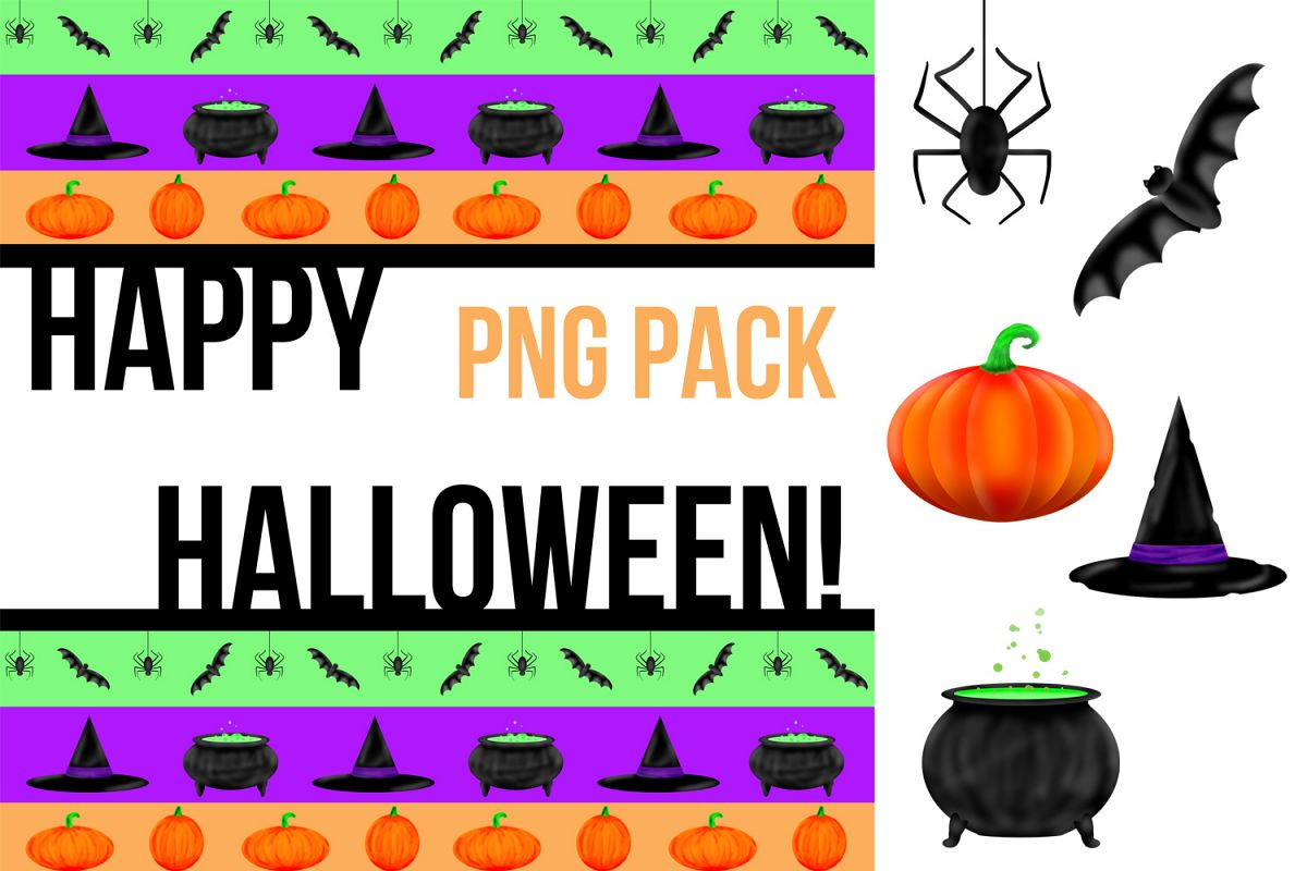 hight resolution of halloween illustrated clipart and graphic pack example image 1