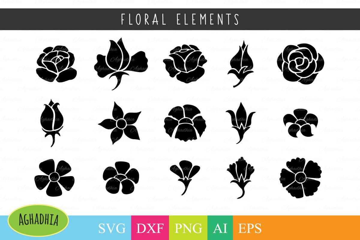 flower icon floral element