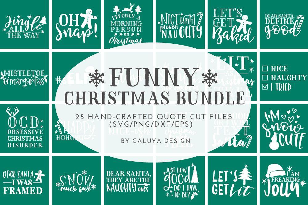 funny christmas phrases svg