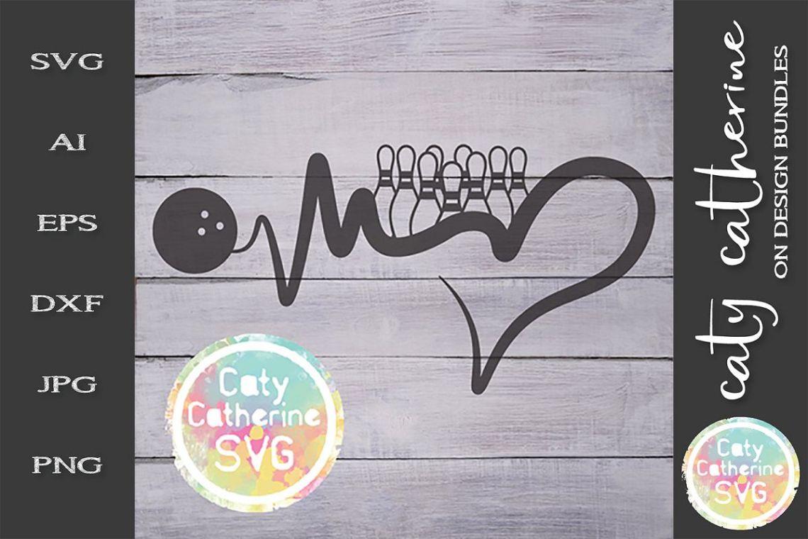Download Heartbeat Love Heart Ten Pin Bowling SVG Cut File (244533 ...