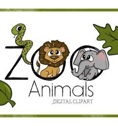 zoo clipart digitalclipart animal clipart cute cartoon zoo animals digital [ 1158 x 772 Pixel ]
