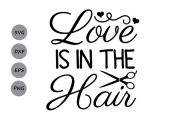 love in hair svg hairdresser