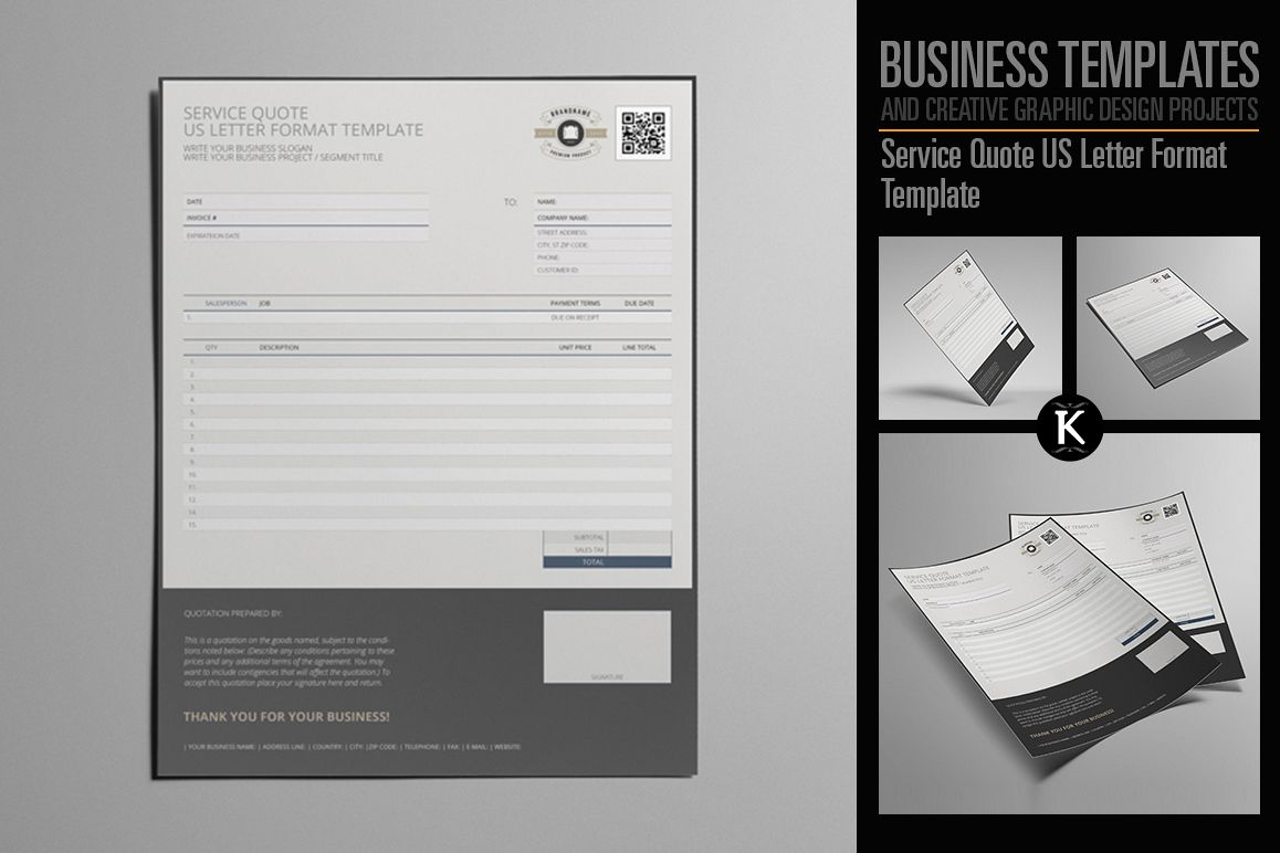 Service Quote Us Letter Format Template Example Image