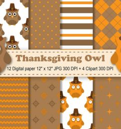 thanksgiving digital paper thanksgiving owls background fall pattern autumn printables scrapbook papers [ 1200 x 800 Pixel ]